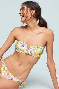 d5988db1821 Shop women s swimsuits and cover ups for a day at the pool or resting on the  beach. Shop Anthropologie for a variety of designer one piece and two  pieces.
