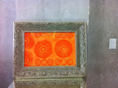 tela Sois Laranjas em pintura acrilica e tecnica mista 2013 - 50x65 -  acrylic on canvas -  Melina Ollandezos