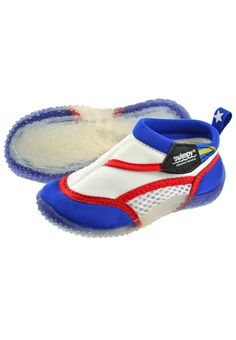 Sandals - white/blue/red - £8