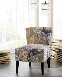 SKU 46304-60 contemporary upholstered accent armless chair.