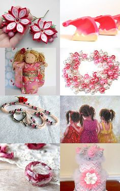 Shopping In Peppermint Pink by PJ Parraga on Etsy--Pinned with TreasuryPin.com
