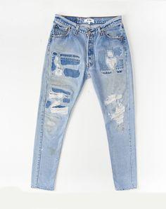 No. 2731SS1101 Straight Skinny #vintage #denim #style #fashion #ecofriendly #green #greenfashion #redun #myreduns #distresseddenim #bluejeans #skinnyjeans #repaireddenim