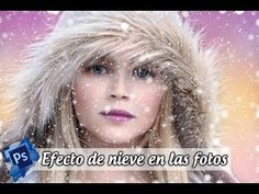 Efecto de Nieve y lluvia en Photoshop - YouTube