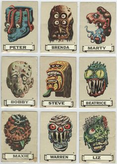 Make Your Own Name Ugly Stickers 1966 - Retronaut