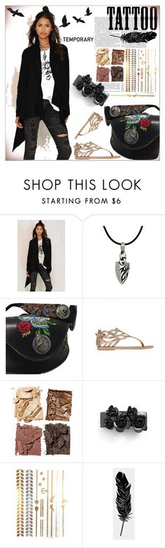 """""""Today's Tattoos"""" by dragananovcic ❤ liked on Polyvore featuring Doe & Rae, Carolina Glamour Collection, Ed Hardy, Ancient Greek Sandals, Illamasqua, L. Erickson, Tattly and temporarytattoos"""