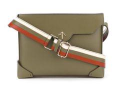 Manu Atelier striped shoulder strap handbag. Find out more from the link