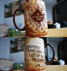 Harry Potter Coffee Mug! I love this! #MaraudersMap #CoffeCup #HarryPotter #Harry #Potter