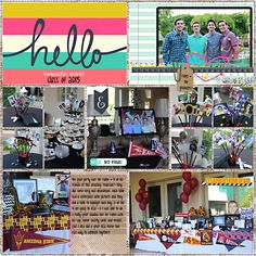 Using Studio Basics - Hello World (the Digi Files July 2015). Template by Traci Reed