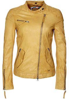 Maze DALLAS Lederjacke yellow von Maze. Zu kaufen für 379,95 € bei Zalando.