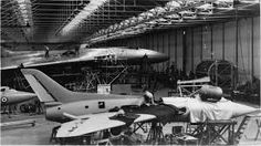 Avro Vulcan & Avro 707 under construction Avro Vulcan, Experimental Aircraft, Fighter Jets, Aviation, Cold War, British, Construction, Image, Building