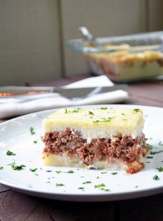 Madalena - Brazilian Style Meat and Potatoes Pie. Similar to the Shepherd's Pie, but better :)