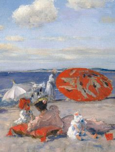 'At the Seaside' (detail) c.1892 - William Merritt Chase