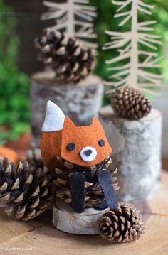 Basteln mit Tannenzapfen – Die 15 schönsten DIY Bastelideen Crafts with Pine Cone – The 15 Most Beautiful DIY Craft Ideas – Pine Cone Fox