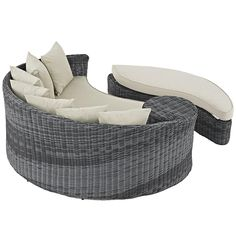 Transitional Gray Outdoor Daybed