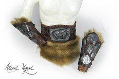 Pack de 1 Cinturón tribal de cuero con cabeza de demonio del Magic Armor, Larp Armor, Men Accesories, Armours, Leather Craft, Steampunk, Characters, Cosplay, Fancy