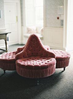 Pink tufted velvet (my weakness) lounge chair. Deco Rose, Salon Interior Design, Paris Mode, Blog Deco, Take A Seat, Lounges, Interior Inspiration, Furniture Design, Lounge Furniture
