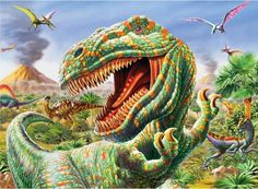 Dinos (Ready, Set, GLOW!) Dinosaurs Children's Puzzles