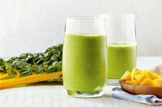 Swiss Chard, Coconut and Mango Smoothies