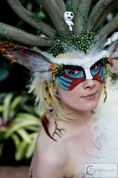 Princess Mononoke nature mask studio ghibli mononoke spirit masquerade katsucon kodama CTgraphy forest spirit DEER GOD katsucon 2013 // incredible cosplay