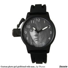 Custom photo girl girlfriend wife name white watch. A gift for Valentine, Valentine's Day White Clocks, White Letters, Birthday Gifts For Girls, Custom Photo, Girl Gifts, Valentine Gifts, Gifts For Him, Girlfriends, Photo Gifts