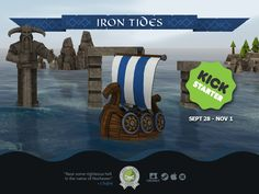 Iron Tides is less than away from its goal to bring their viking-themed adventure to life and there's a little over a week left to join as a future chieftain to command your own crew through treacherous seas. Vikings, Kicks, Iron, Goals, Adventure, Movie Posters, Life, The Vikings, Film Poster