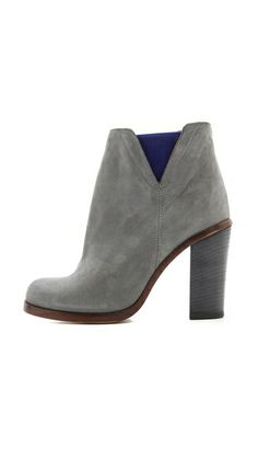 MM6 Maison Martin Margiela Contrast Inset Booties, great colors