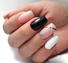 47 Stunning Short Square Nails Summer Design for Manicure Nails - - . - 47 stunning short square nails summer design for manicure nails - Square Nail Designs, White Nail Designs, Nail Art Designs, Nails Design, Cute Nails, Pretty Nails, My Nails, 5sos Nails, Nail Polish