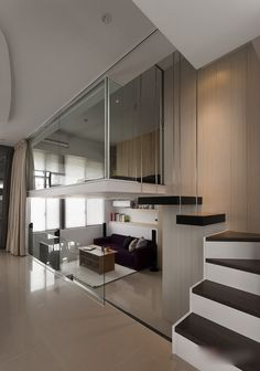 Modern small apartment decorated with a contemporary interior of black and white. The house touched with a very chic vibe, hanks the two predominant colors in decor. It is beautifully & smartly designed to...