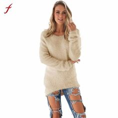 09ea2979721205 Winter Sweater Women Casual Solid Long Sleeve Jumper Sweaters Busos Para  Mujer 2017