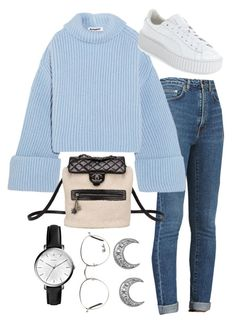 """""""Sin título #2279"""" by alx97 ❤ liked on Polyvore featuring Yves Saint Laurent, Jil Sander, Chanel, FOSSIL, Ray-Ban and Puma"""