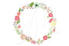 floral wreath stationary design
