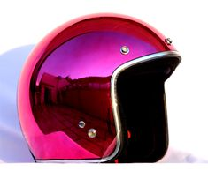 Masei Purple Red Chrome 610 Open Face Motorcycle Helmet Free Shipping Worldwide