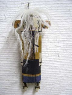 Old Style Hopi Carved Rock Eater Traditional Angry Katsina Doll by Darance Chimerica