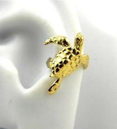 Ive got a sea turtle obsession... Gold Vermeil Sea Turtle Ear Cuffs Left: Jewelry: Amazon.com