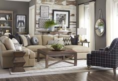 10 Cozy Living Room Sutton U Shaped Sectional Ideas 4 – Kawaii Interior Living Tv, Cozy Living Rooms, New Living Room, Home And Living, Living Room Furniture, Living Spaces, Wood Furniture, Living Room Ideas Tan Couch, Taupe Living Room
