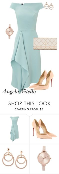 """Untitled #1071"" by angela-vitello on Polyvore featuring Roland Mouret, Christian Louboutin and Michael Kors"
