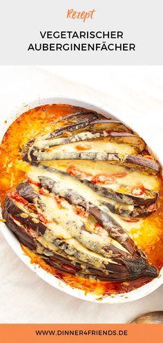 #Vegetarisch #Auberginenfächer mit #Tomaten #Mozzarella #Knoblauch #veggie #dinner4friends