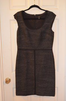 Ann Taylor Size 8 And White Blend-brand New Dress $40