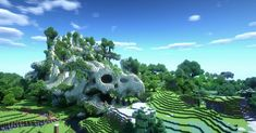 Mountain of dragon fossils : Minecraft