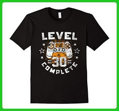 Mens Level Complete 30th birthday Funny Gamer T-Shirt gift idea Large Black - Birthday shirts (*Amazon Partner-Link)