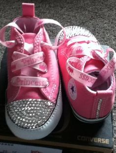 Infant Crystal Converse 0-3,3-6,6-9,9-12months Red,Pink,Navy