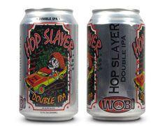 Updated Hop Slayer Double IPA can design from Wild Onion Brewing Company in Lake Barrington, IL