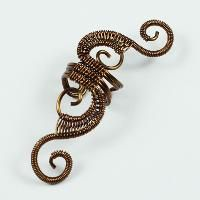 Jewelry : Vintage Brass Woven Swirly Ear Cuff