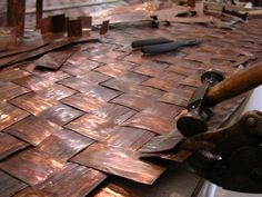 Custom Functional Artwork Created for Your Home by Kauai Copper Art Copper Wall Art, Copper Work, Metal Siding, Metal Roof, Metal Wall Panel, Copper Sheets, Roof Design, Diy Interior, Wall Treatments