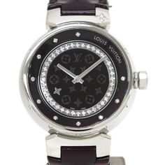 Pre-owned Louis Vuitton Tambour Stainless Steel 30mm Womens Watch ($5,740) ❤ liked on Polyvore featuring jewelry, watches, stainless steel watches, louis vuitton, preowned watches, louis vuitton watches and stainless steel jewelry