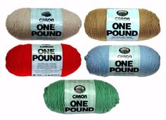 Caron One Pound Yarn 16 oz 4 Ply 100% Acrylic No Dye Lot ~Your Choice~ #Caron…