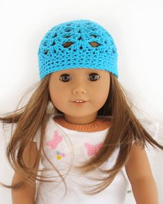 Little Abbee: TUTORIAL: American Girl Crochet Hat. Pinned from original source by Dorothy.