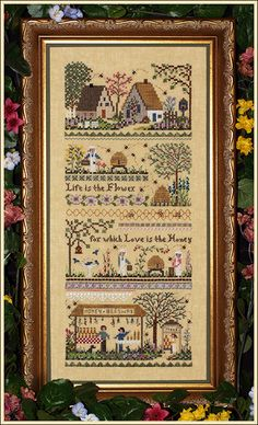 What I'm working on right now:    Babes Honey Farm Sampler by Victoria Sampler - Cross Stitch Kits & Patterns