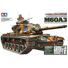 56.70$  Buy here - http://ali807.worldwells.pw/go.php?t=32687678666 - Tamiya 35140 1/35 US M60A3 105mm Gun Tank Military Assembly AFV Model Building Kits TTH
