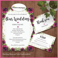 MB Design and graphics: Wedding set part 1